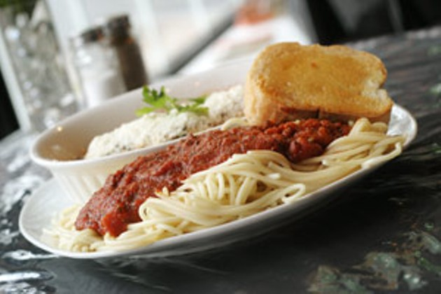 Ready spaghetti George & Lito's takes Greek and Italian most of the way.                   photo Julé Malet-Veale