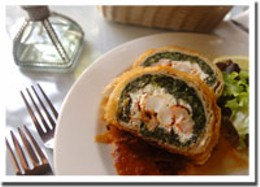 Revolutionary roulade Lobster strudel's a new take on the classic lobster roll. photo Darryl James