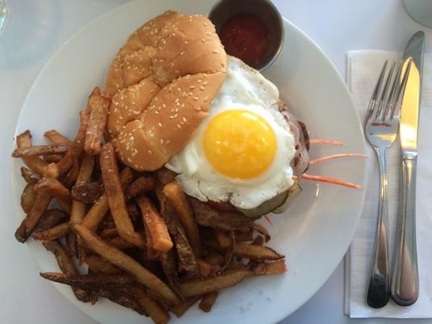 Robie Street's plump bibimbap burger and its sweet slaw are a treat.