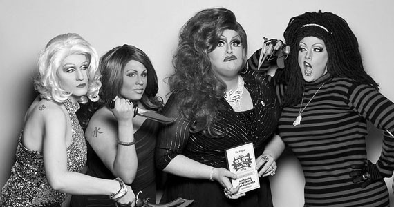 Rouge Fatale (third from left) and other cutting bitches. - TIMOTHY RICHARD