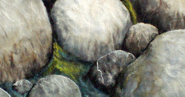 "Sanna Rahola's ""Exposed II"" stone close-up."