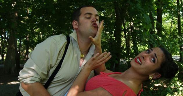 SBTS's Tom Gordon Smith as Falstaff and Kathryn McCormack as Mrs. Ford