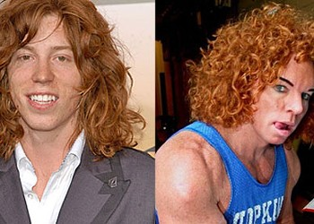 Separated at birth? Shaun White and Carrot Top