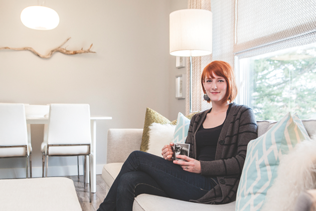Shay Ingram in her pretty home - PHOTO BY RILEY SMITH