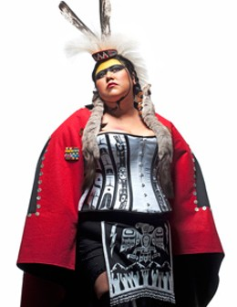 Skeena Reece, Raven: On the Colonial Fleet, 2010, performance regalia. - SEBASTIEN KRIETE