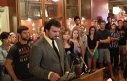 SMUSA student leaders involved in the rape chant held a press conference last week.