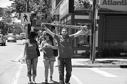 HUSAYN EBLAGHI - Spanish fans on Spring Garden - The day wasn't as colorful as they had hoped.