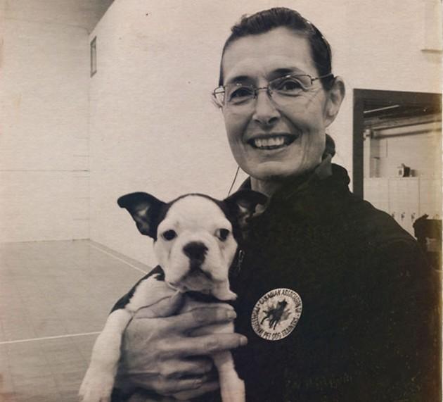 Susan Jordan with a student.