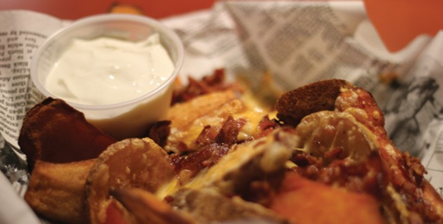 Sweet potato skins for the win at Clay West.