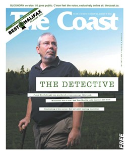 The August 24, 2006 cover featuring detective, and Halifax mayor candidate, Tom Martin. - PHOTO BY SCOTT MUNN