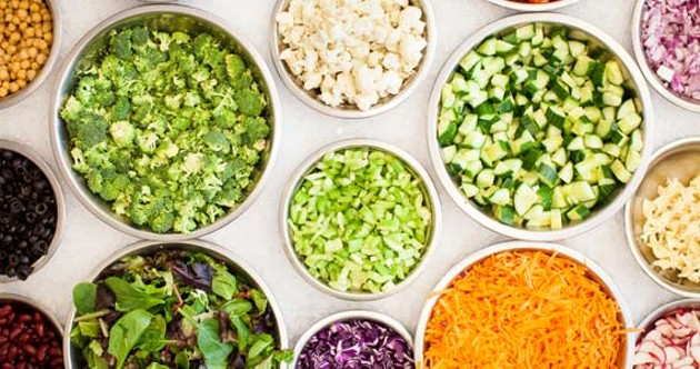 The beautiful beginnings of Midday Bistro's stellar salad. - MEGHAN TANSEY WHITTON