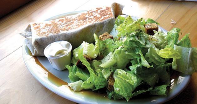 The chicken burrito and Caesar salad are excellent. - TIM BOUSQUET