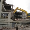The Chronicle-Herald building is being destroyed
