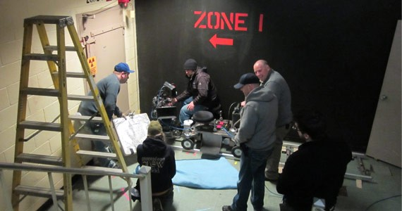 The crew of Bunker 6 gets in the zone. - DANIEL CAMPBELL