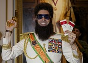 <i>The Dictator</i> swings low