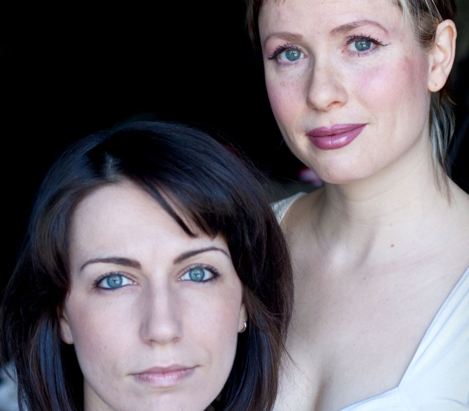 The Doppler Effect's Annie Valentina and actor-writer Laura Burke. - ASHLEY MARIE PIKE