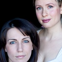 The Doppler Effect's Annie Valentina and actor-writer Laura Burke.