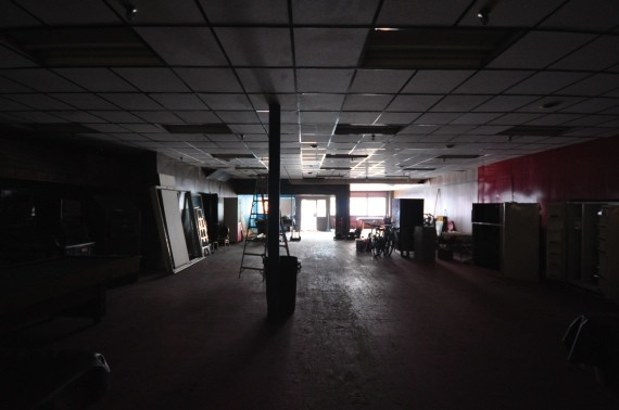 The first floor of the Darrells building, which will be leased to The Hub for meeting space.