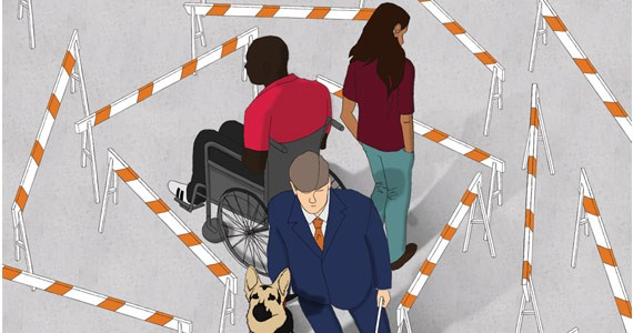 """The first honorarium went to Brittney A. Annand for """"Barriers,"""" a personal look at how the disabled are interacted with socially."""
