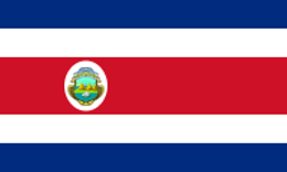 The flag of Coast Rica was designed by a woman, the First Lady, Paci'fica Ferna'ndez Oreamuno, in 1848. Its colours follow those of the French flag.
