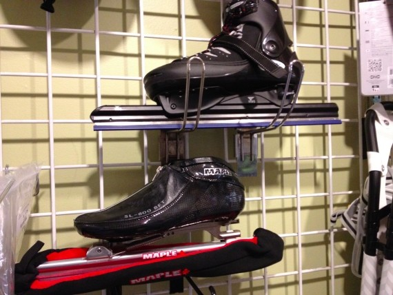 The Maple skate for competitive speed skaters.