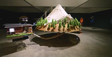 The Mountain (part of Secret Citadel), 2013, mixed media sculpture/video installation, 244 x 304 x 182cm. - GRAEME PATTERSON