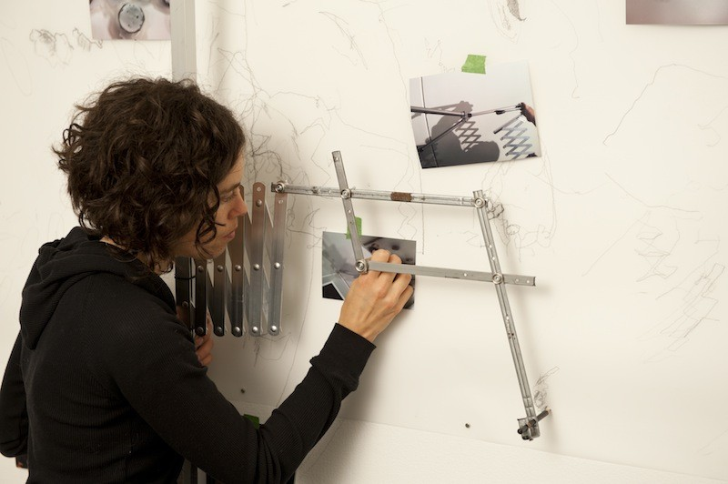 The pantograph drawing tool creates a delicate mural - STEVE FARMER