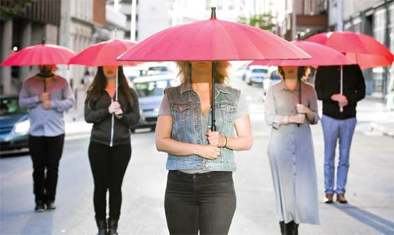 The red umbrella has become the international icon for sex worker's rights around the world. It symbolizes protection from the abuse and intolerance faced by sex workers everywhere but it is also a symbol of their strength. - —scarletroad.com.au - MEGHAN TANSEY WHITTON