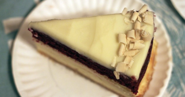 The Red Velvet cheesecake: A striking slice.