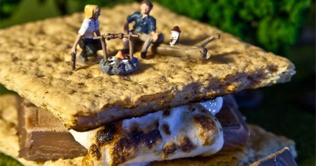 The spectacle of the minute on perfectly cooked, ginormous s'mores. - KRISTA LEGER