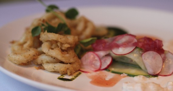 The sublime calamari, with its airy and crisp breading, is a Seasons highlight. - MELISSA BUOTE