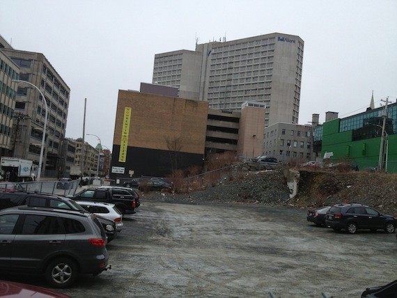 The Texpark lot at the corner of Granville and Sackville Streets.