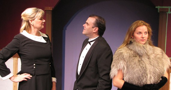 Theatre Arts Guild's Helen Goodwin, Terry Coolen and Rayna Smith-Camp.