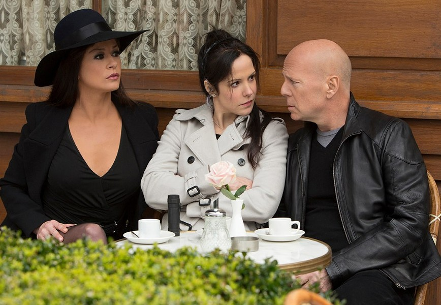 Things are tough for Bruce Willis in Red 2, what with the international killer spies on his trail and the arrival of former flame Catherine Zeta-Jones into his life with current flame Mary-Louise Parker.