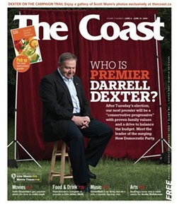 This Darrell Dexter cover story earned Stephen Kimber his first Atlantic Journalism Award.