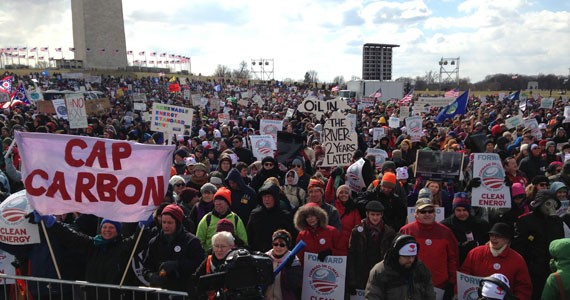 Thousands protest against the Keystone proposal in Washington, DC. - WIKIMEDIA COMMONS USER JMCDAID