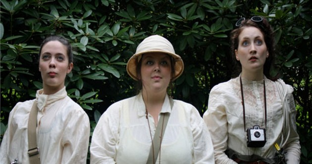 Three bold19th-century ladies explore the globe in On the Verge.