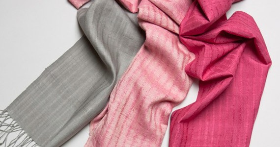 Treat your neck to an eri silk scarf