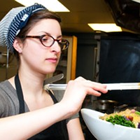 Try the greens at Heartwood Bakery & Cafe, which has been a success on the organic/vegetarian front