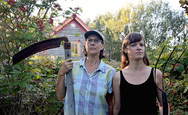 Aube Giroux (right) and Modified's executive producer Camelia Frieburg. - ADDIE BURKHAM