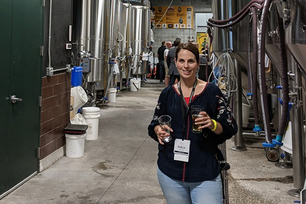 Robyn Warrier at the Florida Craft Brewers Conference - SUBMITTED