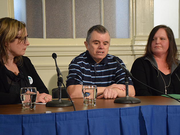 Leblanc, MacLean and Lee speaking at the No More Warehousing: Holding Premier McNeil to His Promises press conference. - SANDRA C. HANNEBOHM