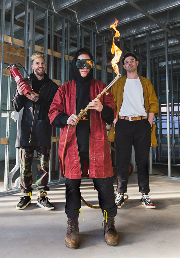 left to right: Jesse Ingalls, pipefitter/welder Ashley Aker and Kevin MacDonald - CAROLINA ANDRADE