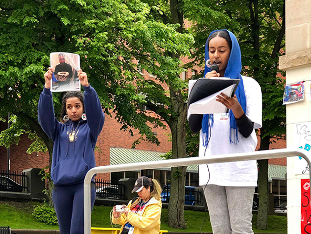 Biographies of the martyrs from the June 3 massacre were being read while their pictures were held to honour the meaningful lives they led. - SUBMITTED