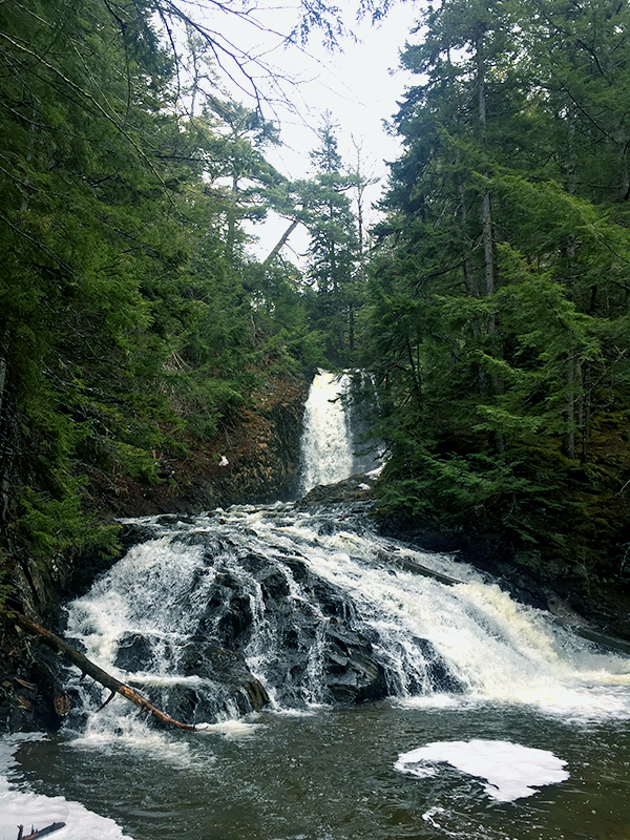 Butcher Hill Falls is one of the most beautiful waterfalls in Nova Scotia, and it's incredibly easy to access. - LAURA HAWKINS