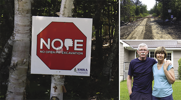 David and Patricia Clark can see Cochrane Hill from their property. If the mine goes ahead despite the NOPE campaign, this road to the site will almost certainly be full of trucks 24/7 like at the Moose River mine. - SUBMITTED