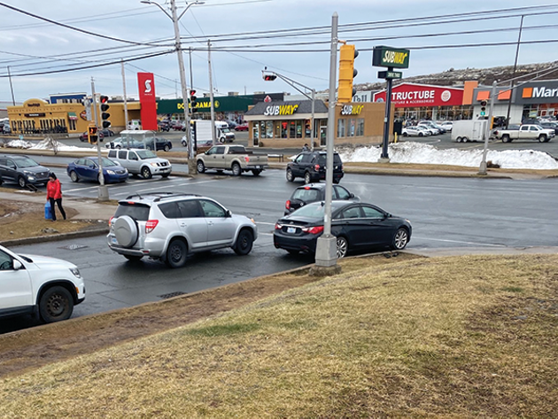 Unpaved sidewalks like the ones pictured above outside Walmart in Bayers Lake make shopping dangerous for people with physical or visiual impairments. - OLUWATOMISIN ADESINA