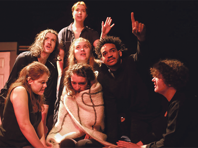 Katie Clarke and the cast of her play Will You Taste Our Blood shake up the patriarchy. - HAYLEY FRAIL