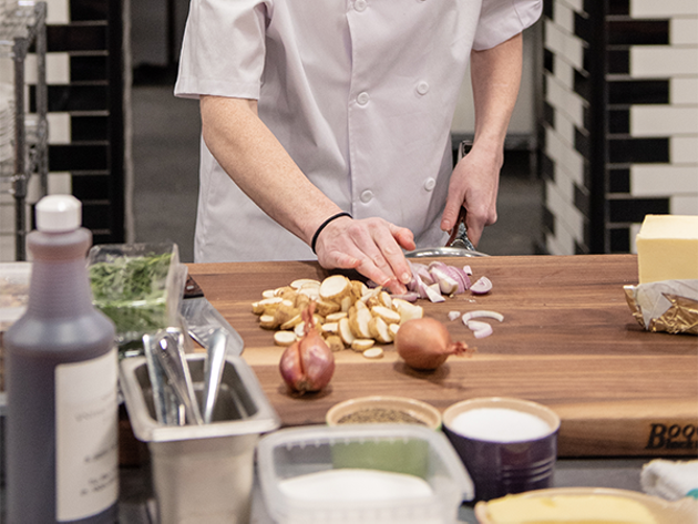 Stephanie Ogilvie, seen here on the Top Chef Canada set, says east coast chefs work harder. - SUBMITTED