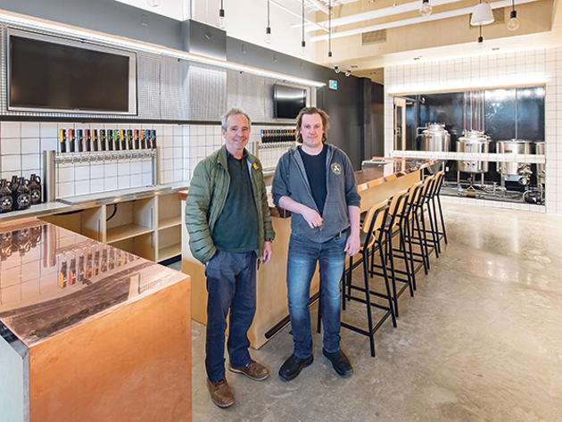 Fill your growlers at John (left) and Mike Allen's newest Propeller location, opening soon on Quinpool. - RYAN WILLIAMS